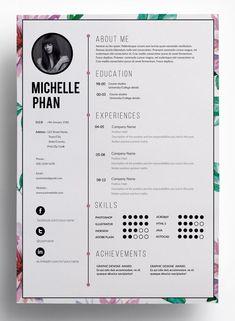 Design Resume Examples 24 Smart Graphic Design Resumés  Graphic Design  Pinterest