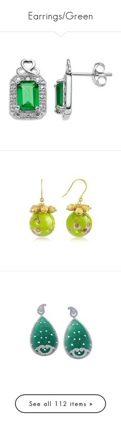 """Earrings/Green"" by thesassystewart on Polyvore featuring jewelry, earrings, green, infinity stud earrings, gem stud earrings, sterling silver stud earrings, green stud earrings, gemstone stud earrings, beads jewellery and round earrings"
