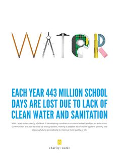 Janna // Simple, striking design resources | charity: water