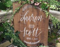 Rustic Wedding Sign Welcome to Our Wedding by MulberryMarketDesign