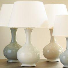 Suzanne Kasler Large Gourd Lamp- Ballard.  I like the the green grey