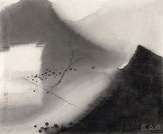 Shen Qin(沈勤 Chinese, b.1958) Farmlands No.009 2014 ink on paper 58 x 70 cm via Farmlands No.006 2014 ink on paper 57.5 x 69 cm via Forest 56×69cm via