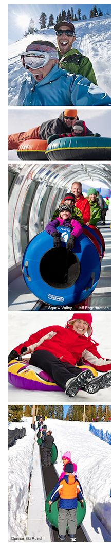 Your guide to the best Lake Tahoe sledding, tubing and snowparks. Slip and slide down these snow tubing hills at Lake Tahoe's best snowparks.