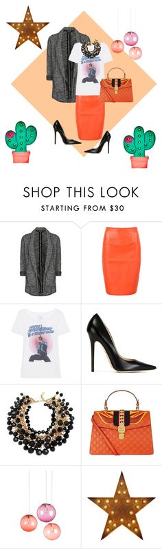 """Fever"" by teresa-ramil ❤ liked on Polyvore featuring Topshop, WithChic, Trunk LTD, Jimmy Choo, Yves Saint Laurent, Gucci and Fatboy"