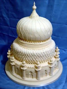 Beautiful-pavilion wedding cake.