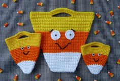 Candy Corn Halloween Bag Set CROCHET PATTERN