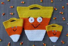Candy Corn Halloween Bag Set CROCHET PATTERN