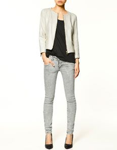 Zara Varnish Effect Blazer