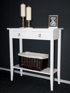 Telefontisch Konsolentisch Wandtisch Beistelltisch Flurtisch weiß massiv holz