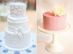 lace wedding cakes.