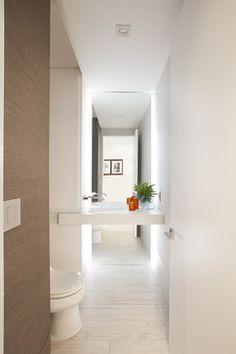 Miami Interior Designers - Architectural Volume by DKOR Interiors - modern - Powder Room - Miami - DKOR Interiors Inc.- Interior Designers Miami, FL
