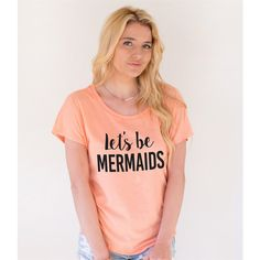 Let's Be Mermaids Dolman Tshirt Womens Clothing Womens Dolman Tshirt... ($21) ❤ liked on Polyvore featuring tops, t-shirts, white, women's clothing, graphic print t shirts, white graphic t shirt, graphic print tees, graphic t shirts and graphic design t shirts