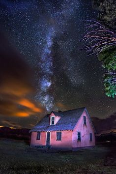 Milky Way Over Jackson Hole Mormon Row House on 500px by Jerry Patterson, MO, USA