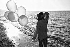 black and white photography with color accents - Google Search