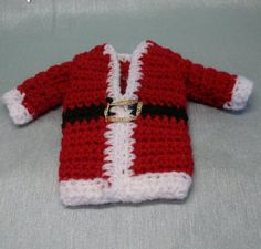 String Theory Crochet: Free Crochet Pattern For Santas Vest Cutlery Holder or Phone Cosy ( At Last )