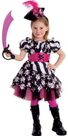 Deluxe Toddler Girls Abigail the Pirate Costume - Party City