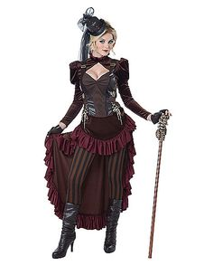 Victorian Steampunk Adult Womens Costume - Spirithalloween.com