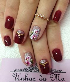 Uñas Fancy Nail Art, Fancy Nails, Pretty Nails, Toe Nail Art, Acrylic Nails, Nail Manicure, Gel Nails, Nail Polish Style, Seasonal Nails
