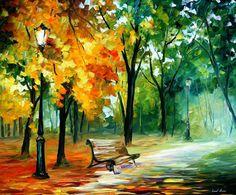 Imaginaciones espátula verde paisaje paisaje por AfremovArtStudio