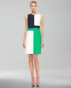 Colorblock Crepe Dress by Michael Kors at Neiman Marcus.