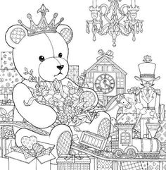 Daria Song#Christmas is just around the corner coloring book #teddybear