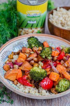 Quinoa cu legume si naut la cuptor - Din secretele bucătăriei chinezești Quinoa, Broccoli, Gluten Free, Vegetables, Eve, Food, Glutenfree, Essen, Sin Gluten
