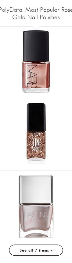 """PolyData: Most Popular Rose Gold Nail Polishes"" by polyvore ❤ liked on Polyvore featuring polydata, beauty products, nail care, nail polish, makeup, nails, beauty, nars cosmetics, accessories and apparel & accessories"