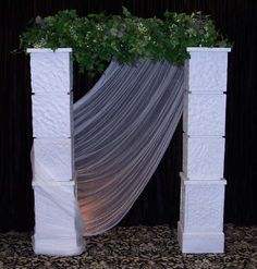 Simple, but elegant minus the greenery!!