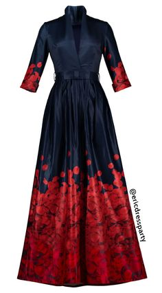 V-Neck Belt Ankle-Length Print Maxi Dress || Material:Polyester