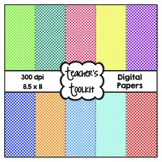 $ Colorful #Check #Digital #Papers {8.5 x 11} #Clip Art CU OK