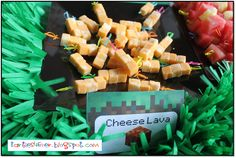 Minecraft Party Food - Cheese Lava What a name Very nice dish Want to lose weight and more Check out this here http://belfit.com