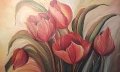 Картинки по запросу flores pintadas em telas