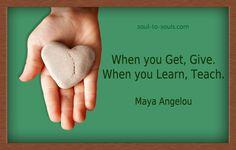 When you learn, teach