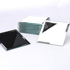 Package of 12 Beveled Edge Square Mirrors Each 5\  Square for Embellishing Crafting and  sc 1 st  Pinterest : square mirror plates - pezcame.com