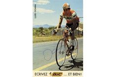 """Autograph Cycling Luis Ocana Tour de France 1973 - Colour autograph card """"BiC"""" with original sign"""