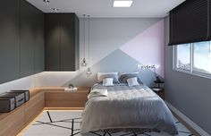 31 Admirable Tiny Bedroom Design Ideas - Several men and women are with the opinion that fine interior designing is often a term only for homes with substantial sized bedrooms. Contemporary Bedroom, Modern Bedroom, Minimalist Bedroom, Home Bedroom, Bedroom Decor, Bedroom Ideas, Tiny Bedroom Design, Bedroom Layouts, Luxurious Bedrooms