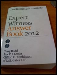 Book Review: Expert Witness Answer Book 2012