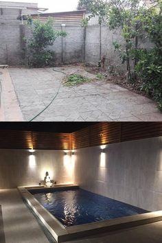 #piscinas #pool #piscinascondiseño #construcciondepiscinas #puscinasmediterraneas #piscina #piscinaschile Chile, Bathtub, Bathroom, Swimming Pool Construction, Decks, Standing Bath, Washroom, Chili Powder, Bathtubs