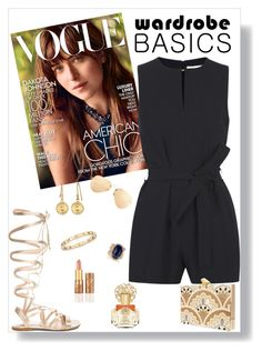 """""""Wardrobe Basics: Romper"""" by stefaniekmasters on Polyvore featuring Gianvito Rossi, Victoria, Victoria Beckham, KOTUR, Ray-Ban, Tiffany & Co., Jacquie Aiche, tarte, Vince Camuto, Clutch and sunglasses"""