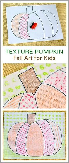 Art Projects for Kids: Textured Pumpkins Using Crayon Rubbings Super easy art project for fall and Halloween! (Textured Pumpkin: Fall Art Project for Kids~ )Super easy art project for fall and Halloween! (Textured Pumpkin: Fall Art Project for Kids~ ) Fun Halloween Crafts, Theme Halloween, Fall Crafts For Kids, Art For Kids, Halloween Projects, Autumn Crafts, Halloween Activities, Spring Crafts, Halloween Ideas