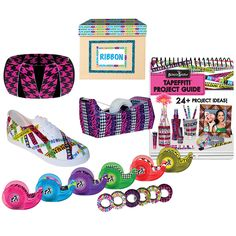 NEW Fun Tapeffiti Tape Kit With Idea Guide For Over 24 Projects