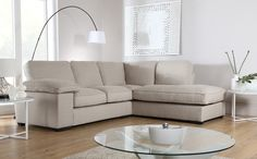 Buoyant Cassie Costa Linen Fabric Corner Sofas Only £799.99 | Furniture Choice