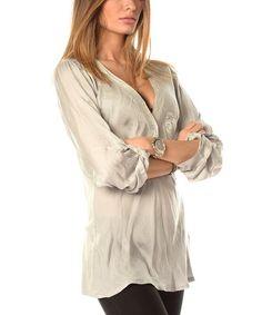 001b1c1673 Loving this Gray Karen Silk-Blend Top on  zulily!  zulilyfinds Paris Grey