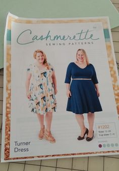 I finished my first go with the Cashmerette Turner dress  a few days ago, and I have some thoughts. (Suprised? Hah.)  My overall opinion ...
