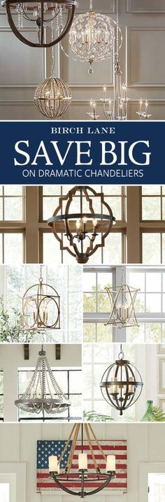 Shimmering, elegant, and bright, the right chandelier adds some much-needed drama to your space. Whether your style skews traditional or has a more rough-around-the-edges farmhouse feel, Birch Lane's selection of chandeliers has an option for you. Home Renovation, Home Remodeling, Interior Design Minimalist, Minimalist Bedroom, Minimalist Decor, Minimalist Kitchen, Farmhouse Lighting, Farmhouse Chandelier, Home Lighting