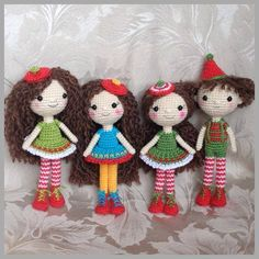 Crocheted dolls Christmas fun
