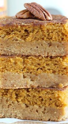 Pumpkin Pie Snickerdoodle Bars | pumpkin dessert bars recipe | eatcakefordinner.net