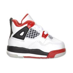 Boys' Toddler Jordan Retro 4 Basketball Shoes ($75) ❤ liked on Polyvore featuring shoes, baby, baby shoes, baby stuff and baby things