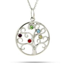 I love this family tree pendant.  But do I get it with 3 birthstones for the kids or 5 with theirs and mine and mikes?