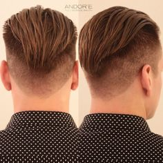 Every man should have this haircut Mens Hairstyles With Beard, Slick Hairstyles, Hair And Beard Styles, Haircuts For Men, Short Hair Styles, Undercut Curly Hair, Curly Hair Men, Slick Back Haircut, Fade Haircut